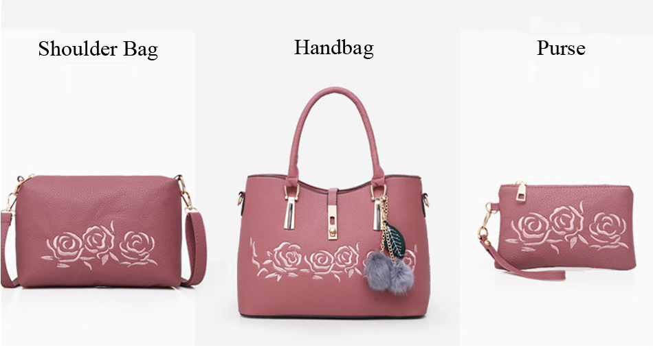 Shoulder Handbag 3Pc Set (TWH08)