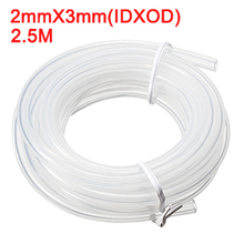 Uxcell 1PCS Silicone Tube 2mm ID X 3mm OD 8.2 Flexible Rubber Tubing Water Air Hose Pipe Transparent for Pump Transfer