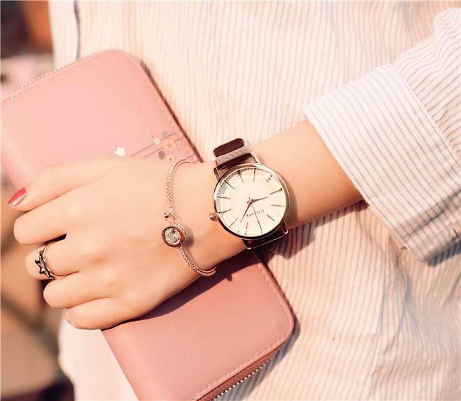Polygonal dial design women watches luxury fashion dress quartz watch ulzzang popular brand white ladies leather wristwatch 8