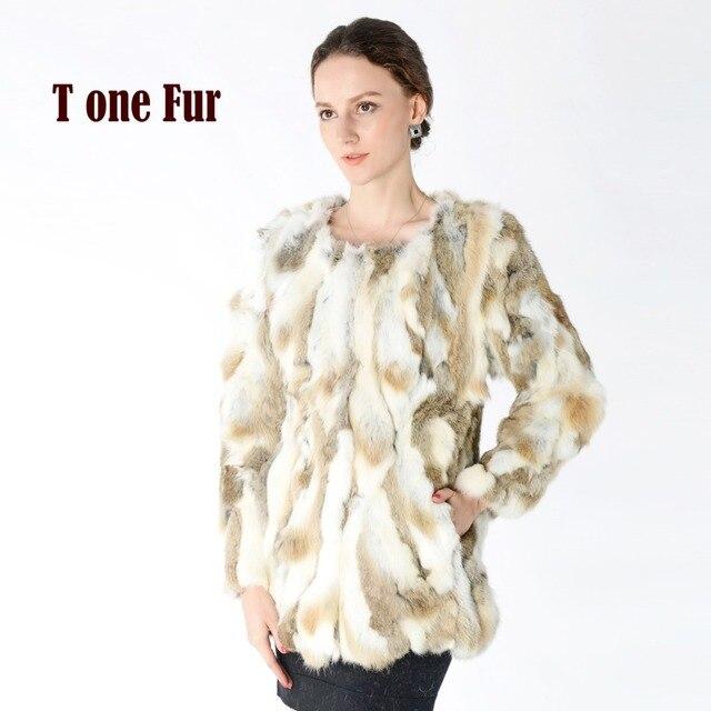 842c3c66 New Arrival 100% Real Rabbit Fur Coat Hot sale Women Nature Fur Jacket  Wholesale factory Real Fur Coat KNT125