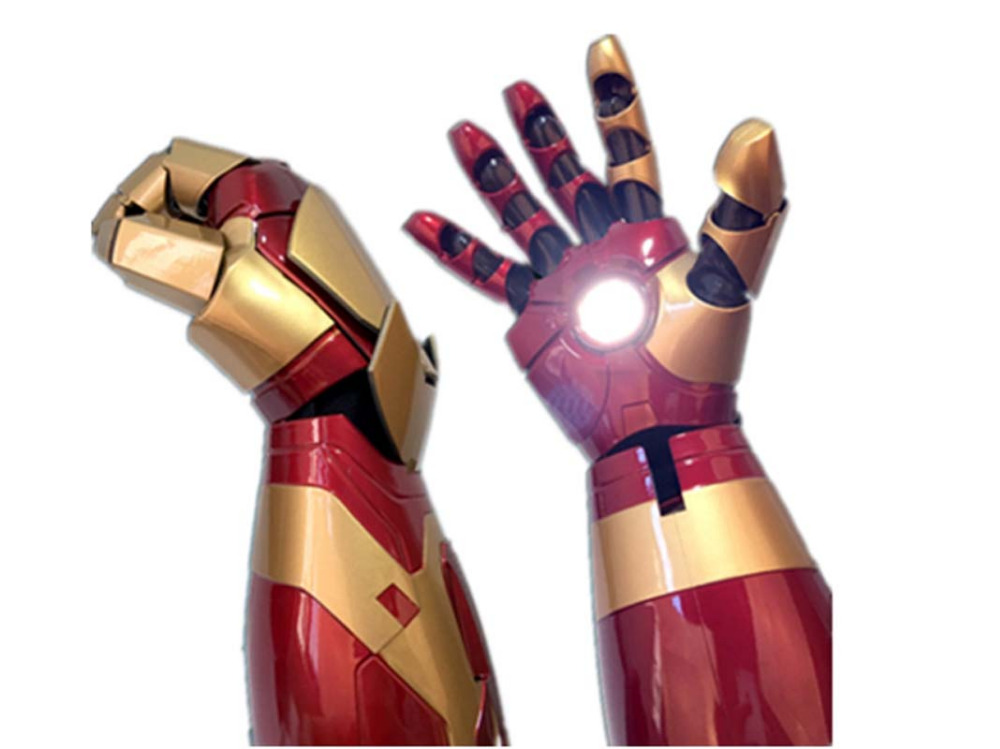 Right Hand Iron Man Mark 42 MK42 1 1 Movable Wearable Arm Glove with Launch