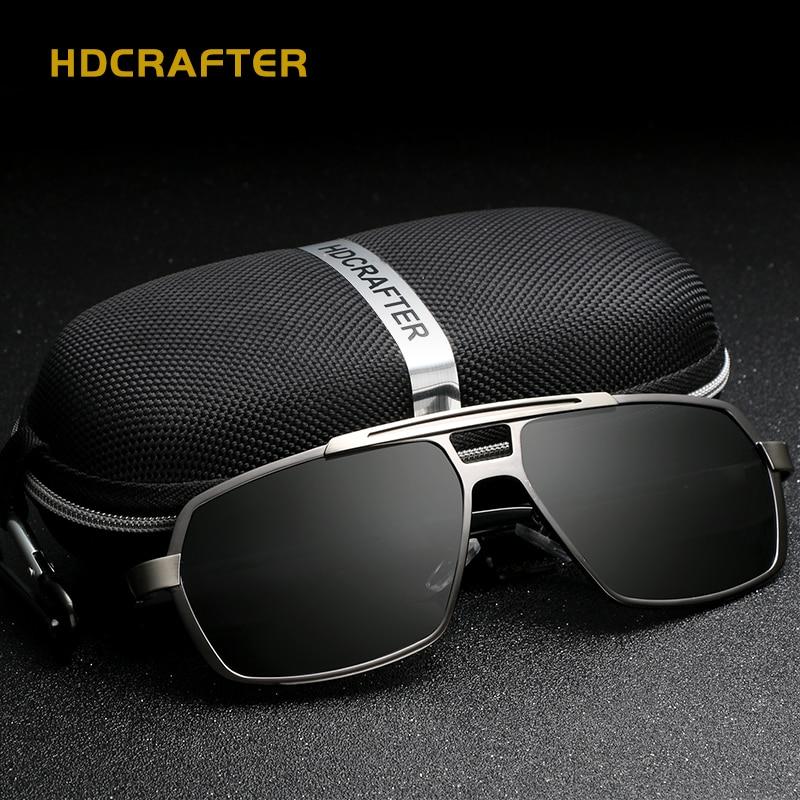 Gafas de sol rectangulares polarizadas UV400 gafas de sol de alta calidad para hombres gafas de sol de diseño de marca de Metal gafas de sol