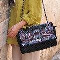 2016 Spring New Original Vintage National Plaited handbags shoulder Messenger bag cross-body chain Boho Indian Clutch bag