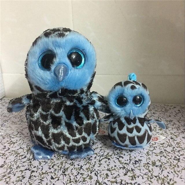 b1acb85cd7d Ty Beanie Boos 10-15cm Yago the Blue Owl Keychain clip Plush Stuffed Animal  Collectible Big Eyes Owl Doll toys for children