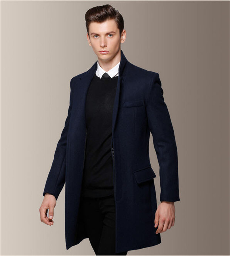 Man Overcoat Trench Coat Red Blends Wine Long Men Winter Dress Manteau Homme Abrigo Gabardina Hombre A754 In Wool From S Clothing