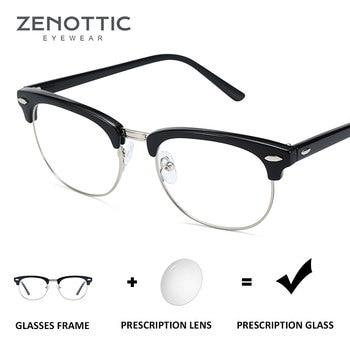 e32bf5aa23 ZENOTTIC de plástico Semi montura gafas de sol Unisex progresiva gafas de  hipermetropía fotosensibles BT4309