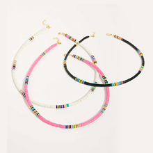 All The Must Beaded Necklace French beaded heishi necklace w