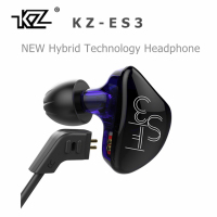 KZ ES3 1DD 1BA Hybrid Dynamic And Balanced Armature Earphone In Ear HIFI Stereo Sport Headset