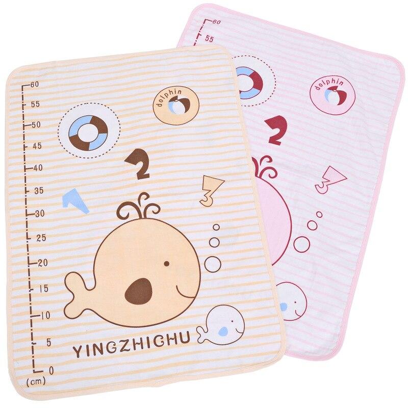 carton printing 48c*57cm Baby Kids cotton Mattress Bedding Diapering Gauze pad waterproof toddler bedding set