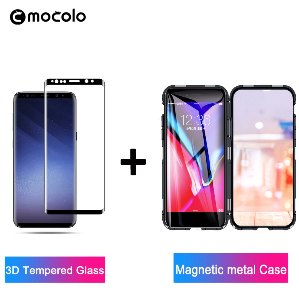 Mocolo 3D Premium Glass for Samsung Galaxy S8 S9 Plus Glass Film Screen Protector for Note 8 9 Tempered Glass Magnetic metalCase Phone Screen Protectors     - title=