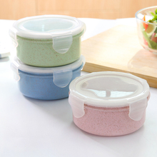 Portable Microwavable Round Lunch Boxes for Kids Boys Girls Grids Picnic Bento Food Container Storage Sealed Box