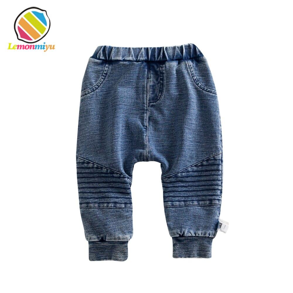 Lemonmiyu Pants Full-Leggings Fleece Winter Trousers Jeans Baby Children Warm Fills Thickened