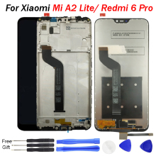 for Xiaomi Mi A2 Lite LCD Display for Redmi 6 Pro Display screen with Frame Digitizer Touch Screen LCD for Xiaomi Mi A2Lite LCD brand new mi3 lcd for xiaomi 3 m3 mi3 lcd display touch screen digitizer with frame for xiaomi 3 lcd wcdma free shipping tool
