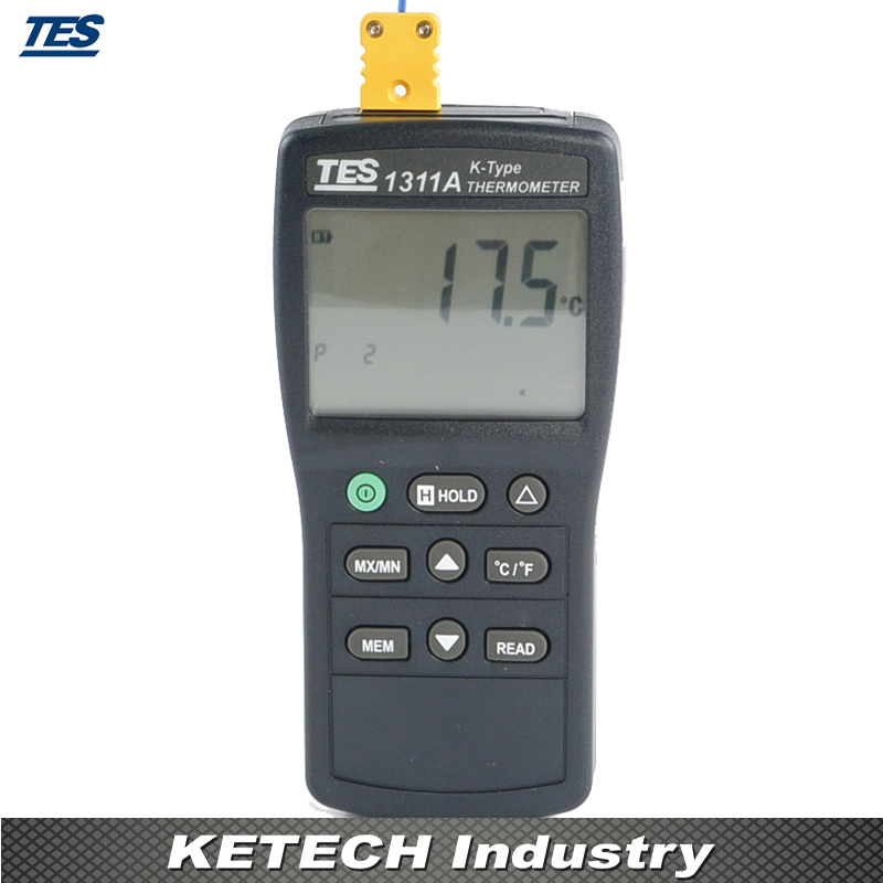 TES-1311A Digital Industrial K Type Thermocouple Thermometer digital dual input k type thermocouple thermometer industrial thermometer temperature reader sensor 50 to 1300 tes 1303