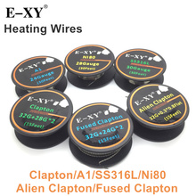 E-XY A1 SS316L Ni80 Alien Fused Clapton Resistance Heating Wire DIY Coil For RDA RTA RDTA Electronic Cigarette Vape Atomizer