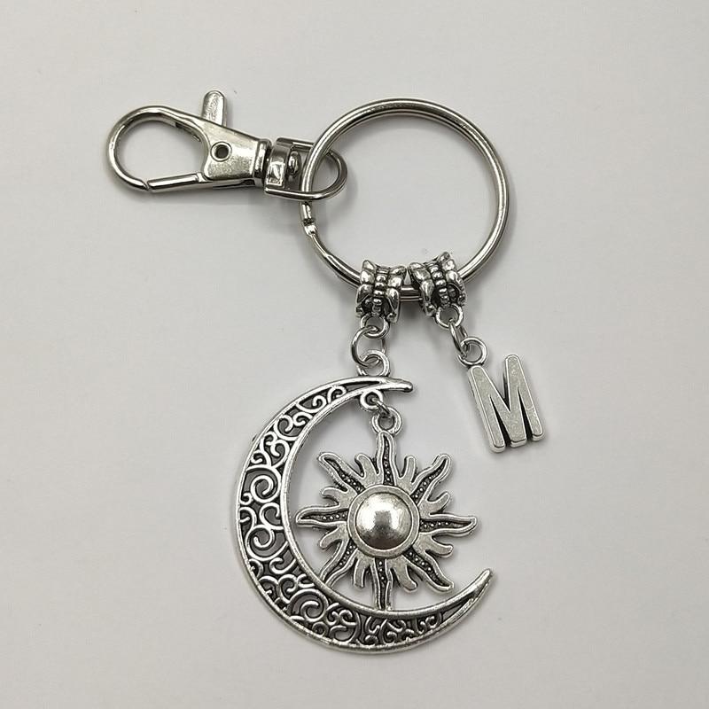 Цепочка для ключей Moon Sun, 1 шт. брелок с лунным камнем, кольцо для ключей Celestial, подвеска в виде солнца, брелок для ключей