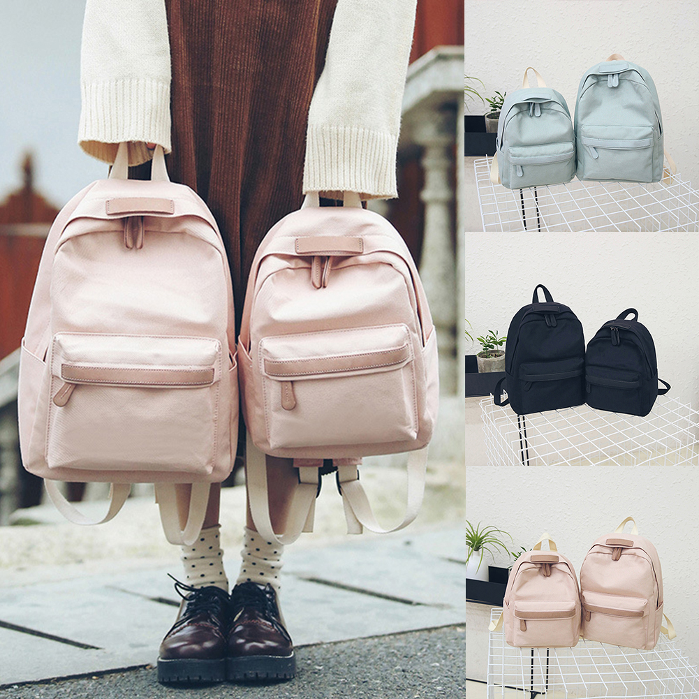 2019 Women Canvas Backpacks Girls School Bag Rucksack For Ladies Pink Black Travel Fashion Bagpack Backpack Bolsas Mochila Mujer