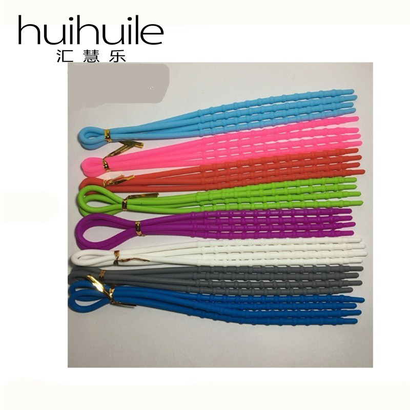 Hot Sale Fashion Silicone Bamboo Style Extensible Shoelaces Creative Fashion All-match Shoelaces One Pair Free Shipping