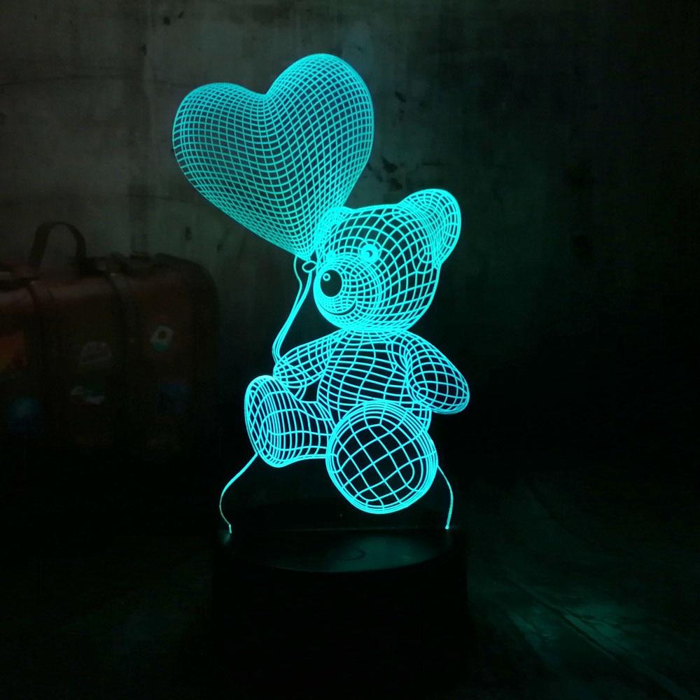 Brand New Usb 3d Led Table Lamp Night Lights Room Night Light Christmas Gift New Single Heart Night Lights