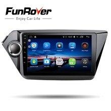 Funrover 2din car dvd gps navigation 9″ for Kia rio k2 2010 -2016 radio tape recorder gps multimedia steering wheel control wifi