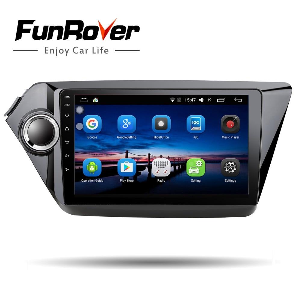 Funrover 2din автомобильный dvd gps навигация 9 для Kia rio k2 2016-2010 радио магнитофон gps Мультимедиа руль управление Wi-Fi