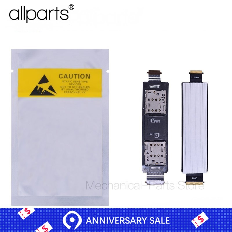 100% TESTed ALLPARTS Warranty Dual SIM Flex Cable For ASUS Zenfone 5 SIM Card Reader Slot Replacement A500CG A501CG T00J