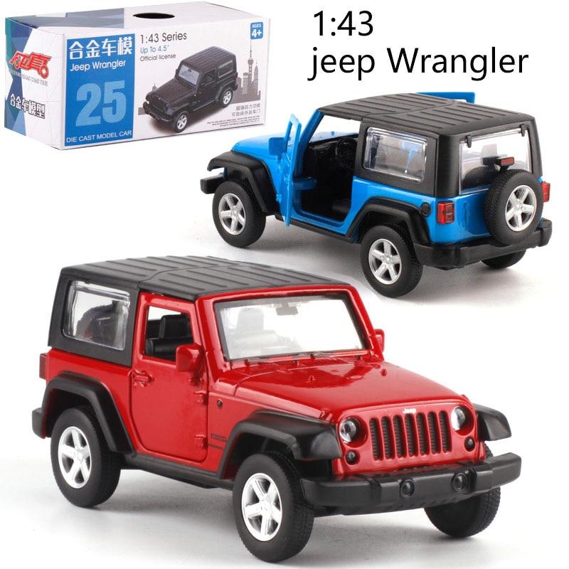 Масштаб 1:42, Wrangler, литой металлический автомобиль, модель автомобиля для коллекционирования, подарок для друзей и детей