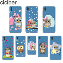 ciciber Lovely Owl For Huawei P20 P10 P9 P8 Pro Plus Lite 2017 P smart 2019 Soft Silicone TPU Clear Phone Cases Fundas Animal