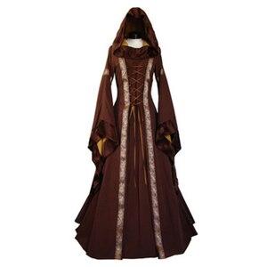 Женское винтажное платье с капюшоном 19-го века