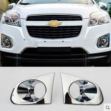 2PC FIT FOR CHEVROLET TRAX TRACKER CHROME FOG LIGHT FOGLIGHT COVER TRIM MOLDING GARNISH INSERT HOLDEN 2013 2014 2015 ACCESSORIES