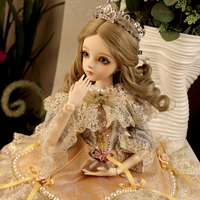 Beautiful Embroidery Clothes BJD Doll Handmade Bride 60cm Resin Dolls Girl Birthday Gift Toys BBGirl SD Doll Costume Makeup