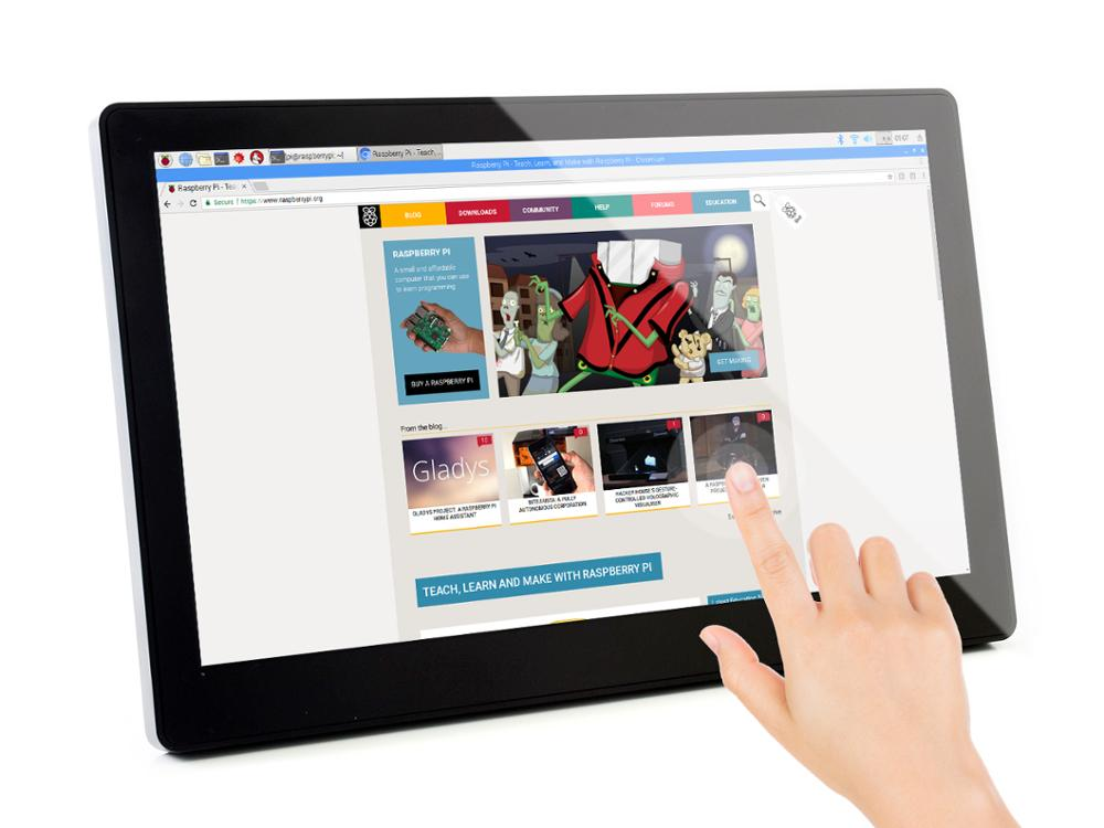 Waveshare 11,6 дюймовый емкостный сенсорный ЖК экран с закаленным стеклом 1920x1080 ips дисплей для Raspberry Pi 4 Модель B - 2