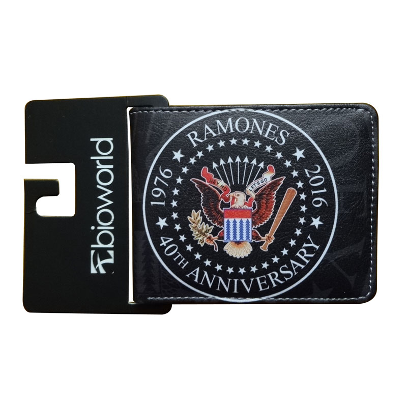 New Arrival Ramones Wallet Movie Anime Leather Purse Card Holder Bags carteira masculina Dollar Price Men Women Short Wallets hot new 2017 anime purse wonder woman wallets hero women pu leather card money bags carteira feminina dollar price short wallet