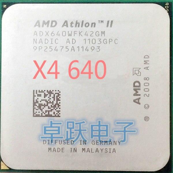 AMD Processor Cpu X4-640 Athlon-Ii Quad-Core Scattered-Pieces