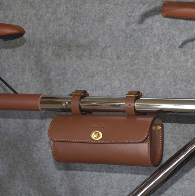 ESCOLHER Clássico Couro Artificial Saco Retro da bicicleta Da Bicicleta Saddle Bag Ciclismo Bicicleta Bag Bicicleta Acessório