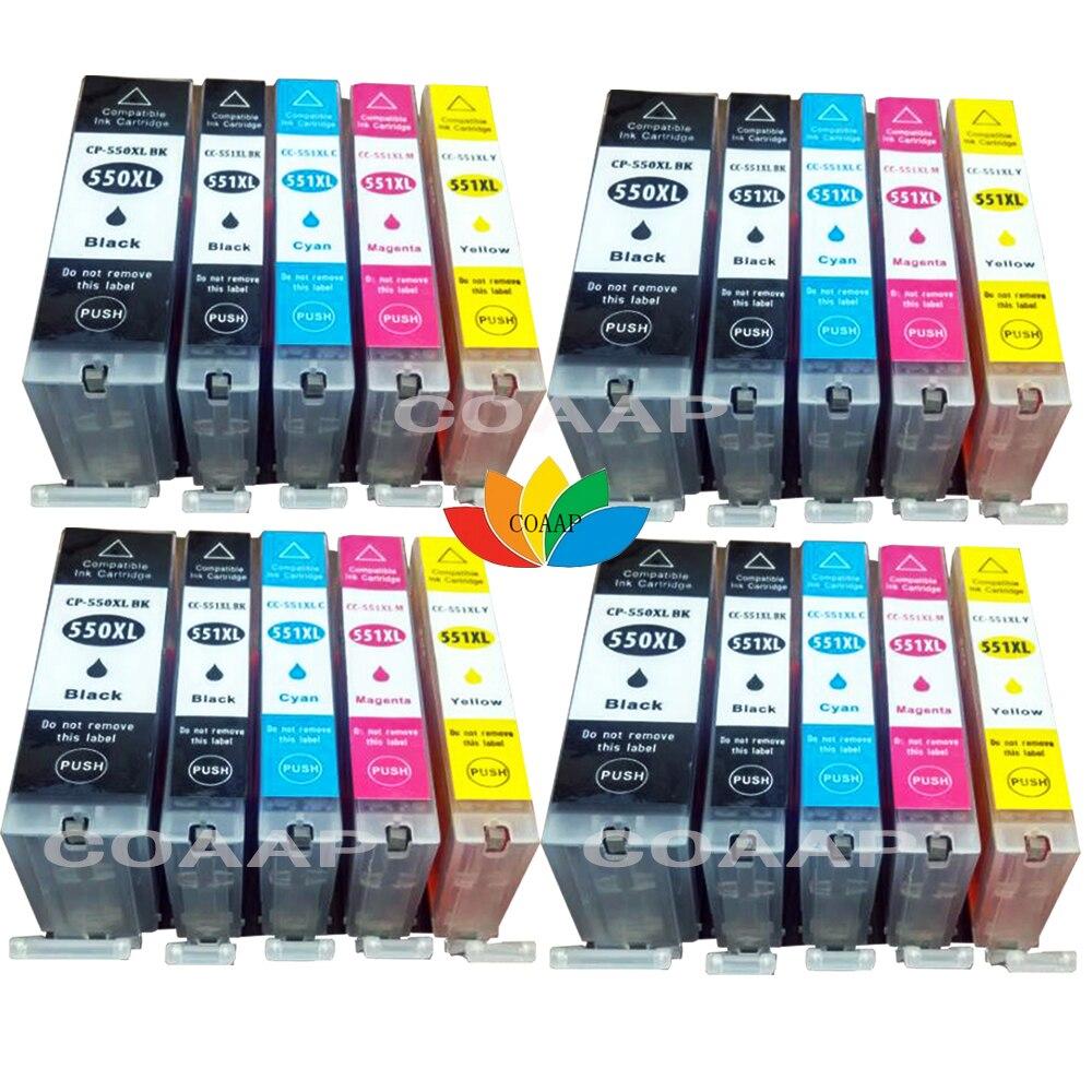 20 XL чернильные картриджи совместимый Canon 550 551 для iP7250 MG5450 MG6350 MG6450 MG7150 MX925