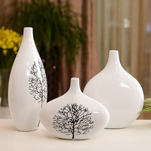 Modern 3pcs/set ceramic vases High quality White birch Pattern vases Tabletop Flower arrangement Crafts home decor Wedding Gifts european ceramic vase creativity simple and modern style tabletop white vases high quality handmade wedding home decor crafts
