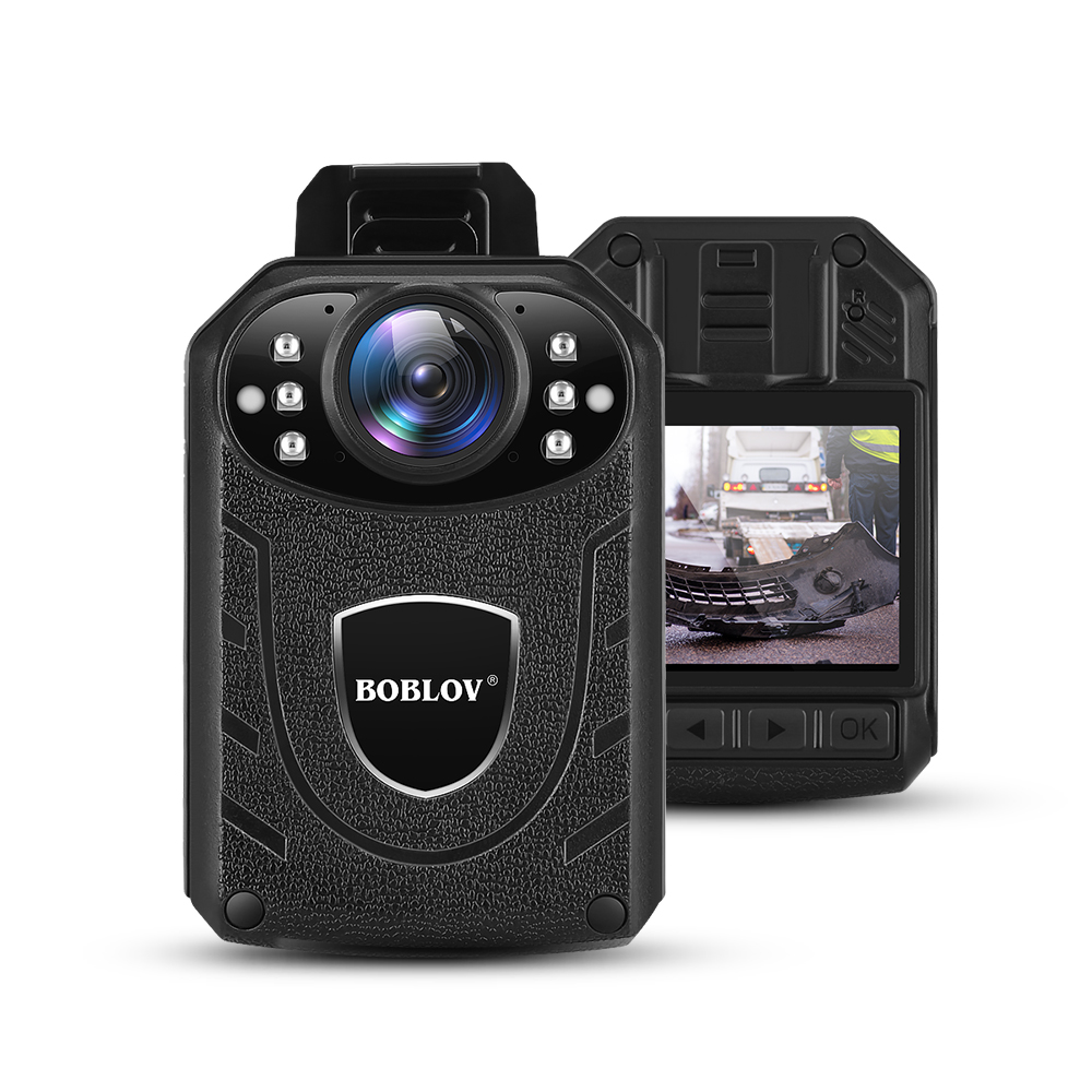 Boblov KJ21 Body Worn Camera HD 1296P DVR Video Recorder Security Cam 170 Degree IR Night Vision Mini Camcorders