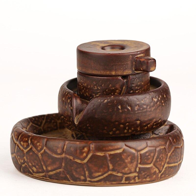 Creativo posteriore cade incenso legno di sandalo incenso disco di pietra Ogni cane ha il suo giorno utensili per il tè. - 2
