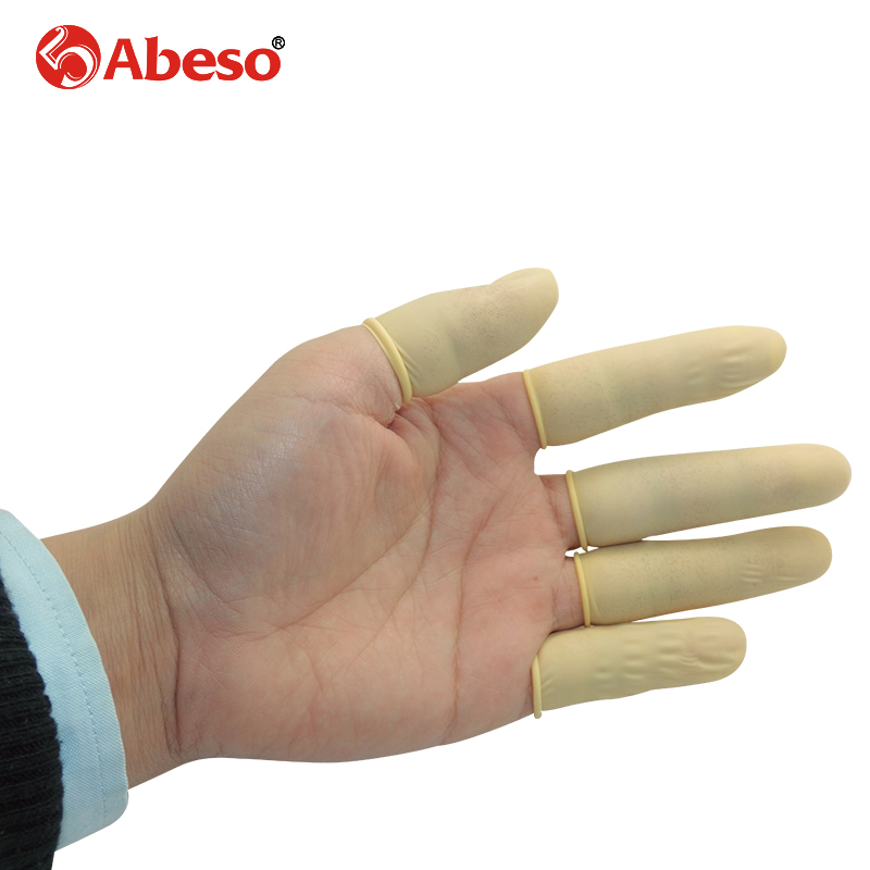 100/1000pcs/lot ABESO Antistatic durable latex finger cots safety gloves antiskip for chalk Electronic finger cots A7223 100pcs protective antislip fingertips gloves latex rubber finger cots antistatic gloves workplace safety supplies