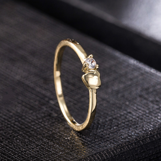 0be50aed50 Simple Unique Heart Rhinestone Ring Women Wedding Engagement Party Jewelry  Accessories Couple Gifts