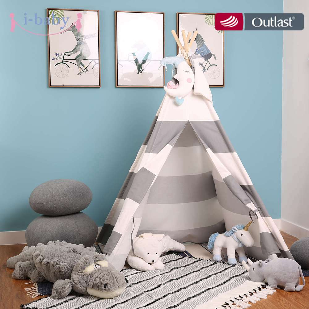 i baby Kids Play Tent Cotton Canvas Teepee Children Toy Tent Cherokee Playhouse Indian Baby Room
