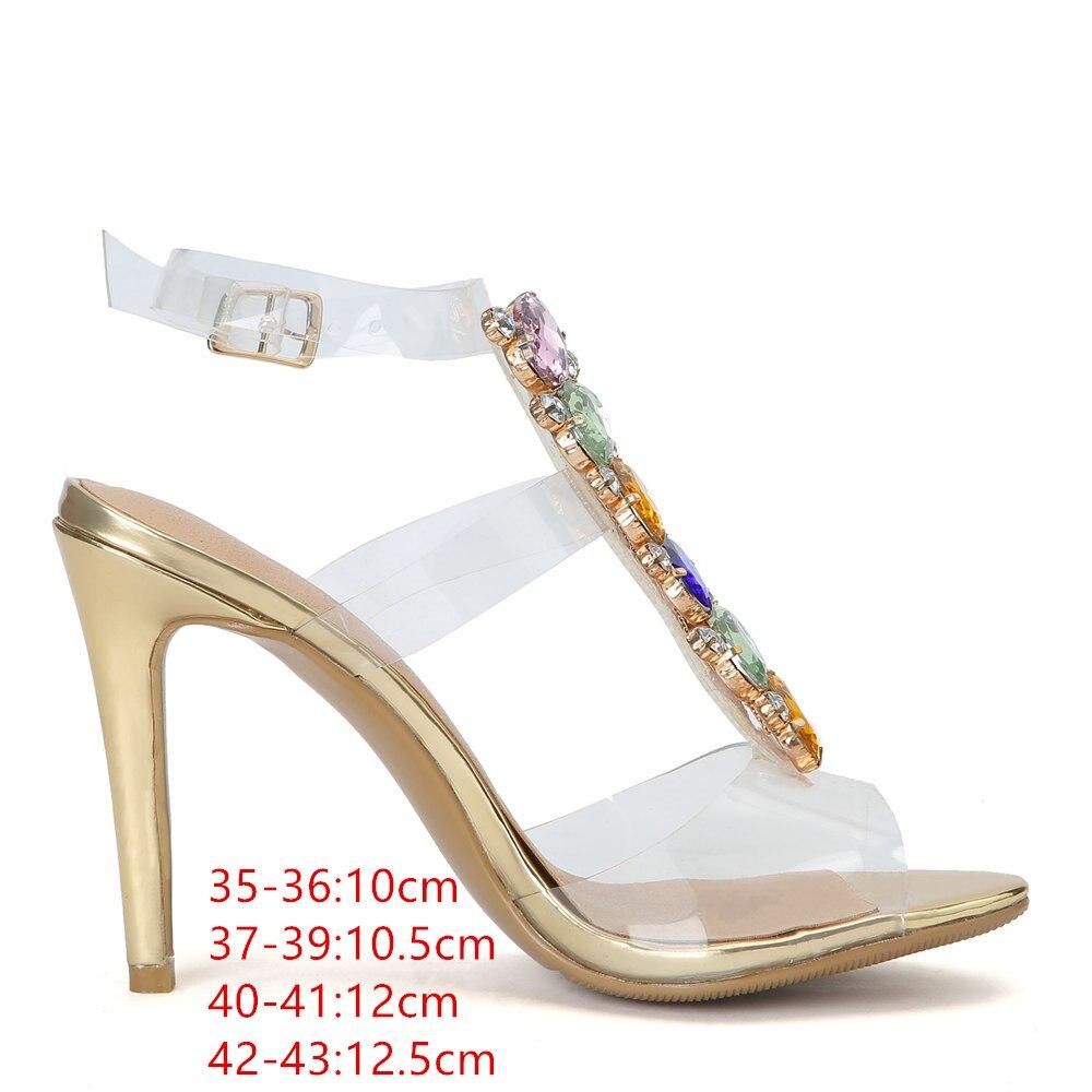 Ayakk.'ten Yüksek Topuklular'de 2019 yaz yeni Avrupa ve Amerikan ultra yüksek imitasyon toka yüksek roma sandalet kadın serin çizmeler Artı Boyutu 43'da  Grup 3