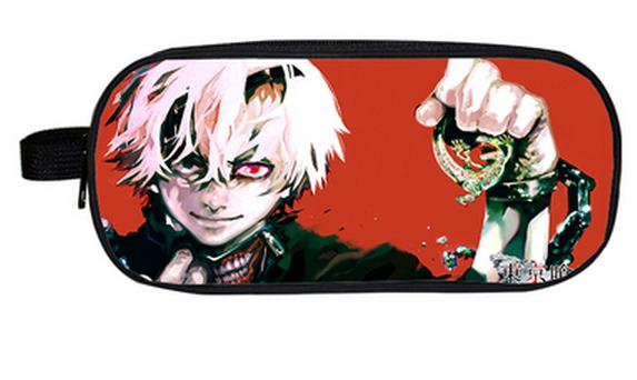 2018 Anime Tokyo Ghoul Boys Girls Cartoon Pencil Case Bag School Pouches Children Student Pen Bag Kids Purse Wallet Gift