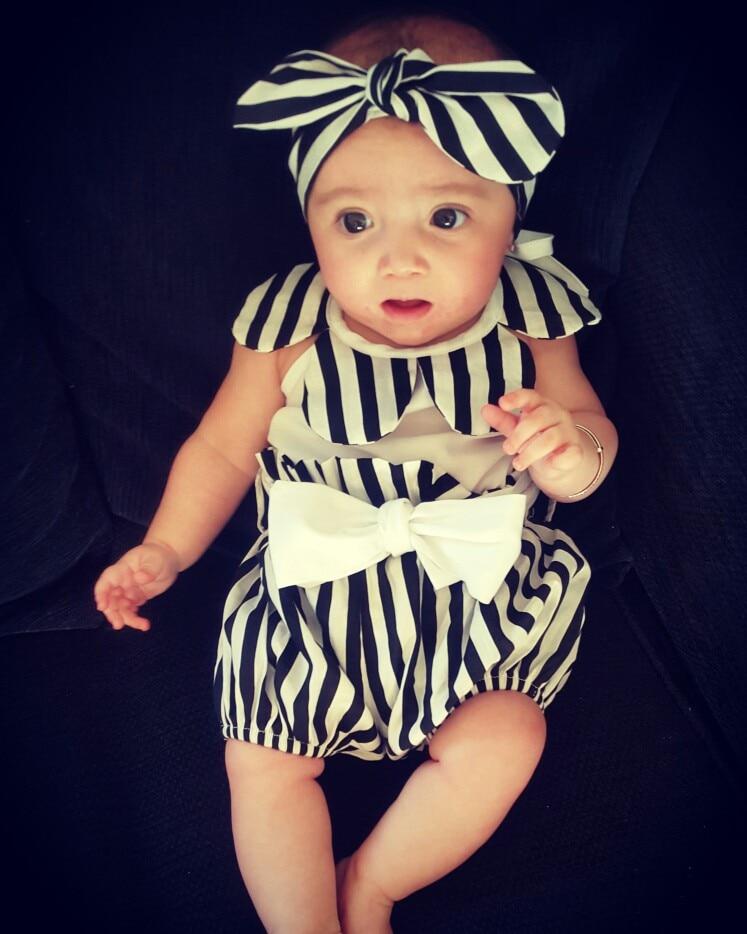 Newborn Baby Girl 3pcs Clothing Sets Princess Romper Jumpersuit +pants headband infant girls Party Birthday Costumes