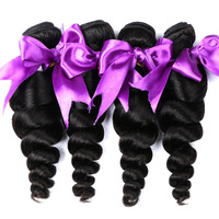 Alishes Loose Wave Remy Human Hair Bundles 100 Brazilian Hair Weaving Natural Color Hair Weft