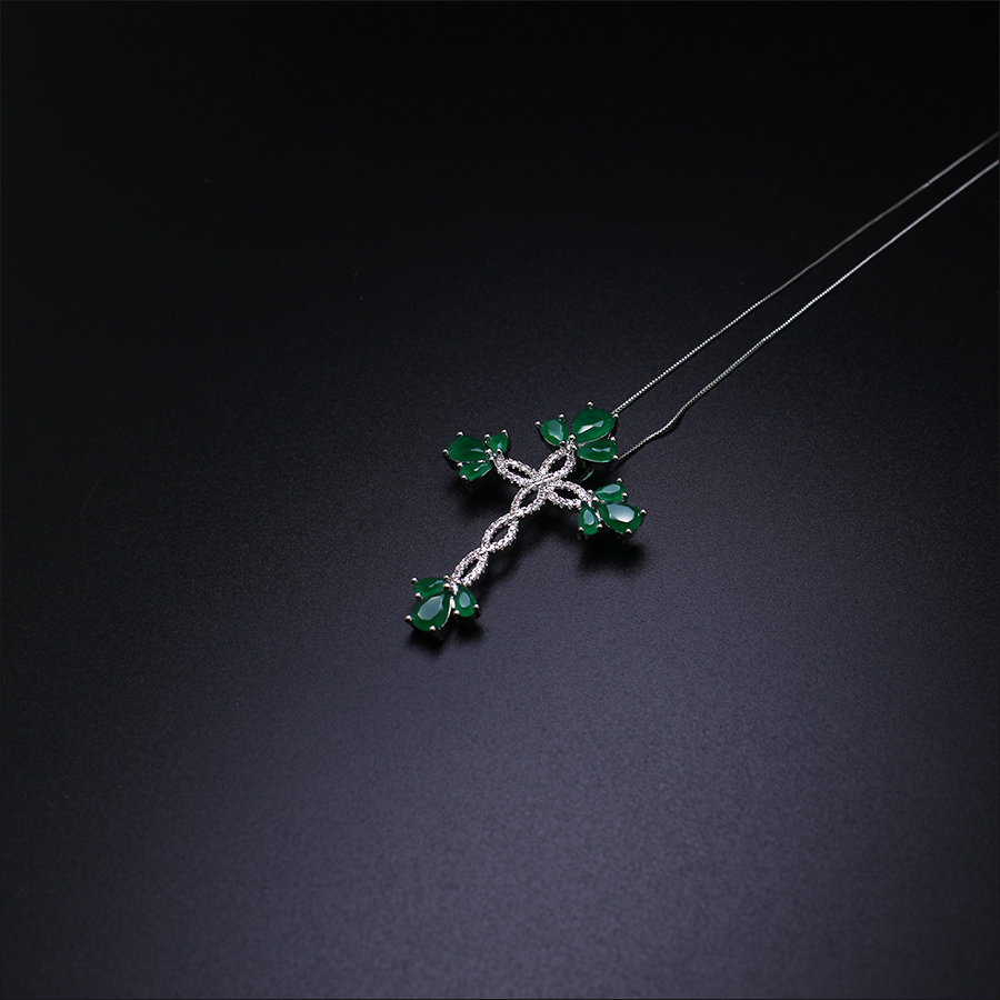 Thanksgiving gift Hot sale New milky green cross pendant necklace fashion Jewelry women Gifts PGY044 hot sale special shape pendant women s necklace