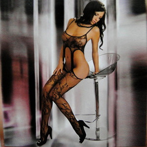Sexy Lingerie Stockings Jacquard Hole Show Belly Small Mesh Clothings