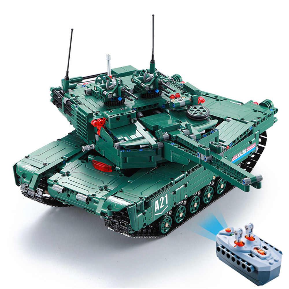ĐÔI E C61001W 1498 CHIẾC Groot Khối Xây Dựng 1:20 Transformable M1A2 Xe Tăng Xe RC Đồ Chơi dành cho Trẻ Em Tặng RC Tàu Chở Dầu