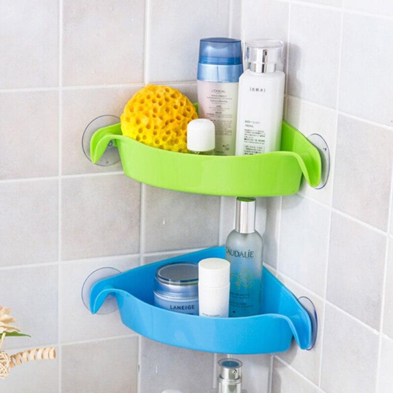 Kitchen Shelf Holders: Creative Wall Mounted Sink Corner Kitchen Storage Holder